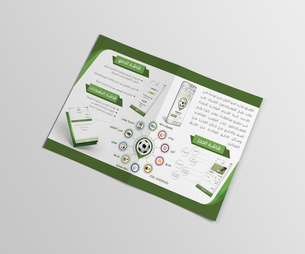 Kora Map Brochure provided by Outflow designs agency