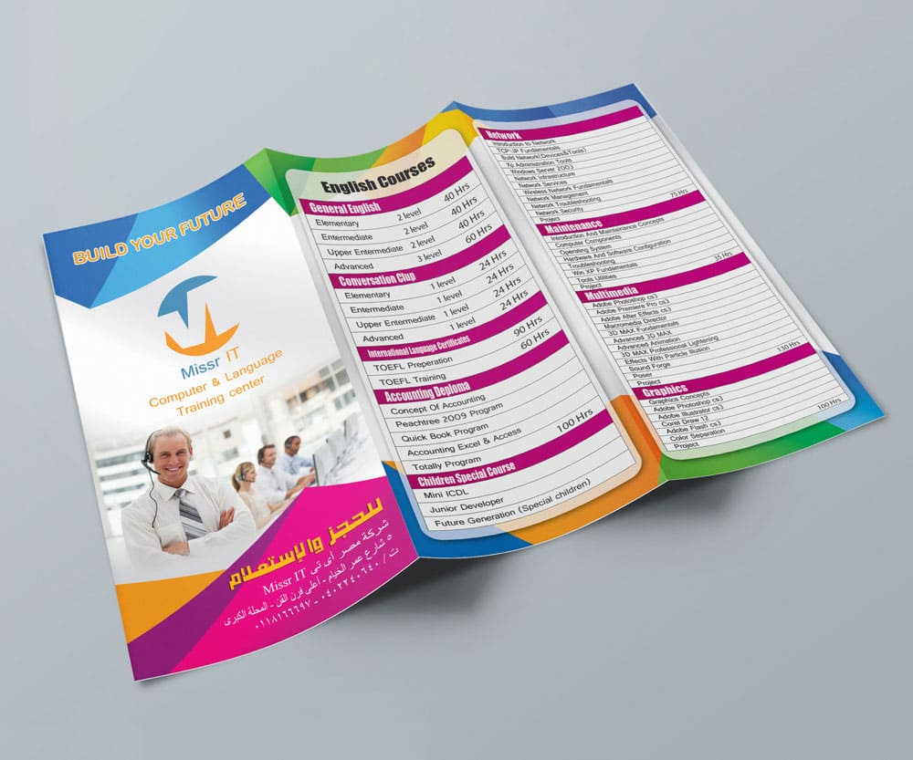 Missr IT Brochure provided by Outflow designs agency