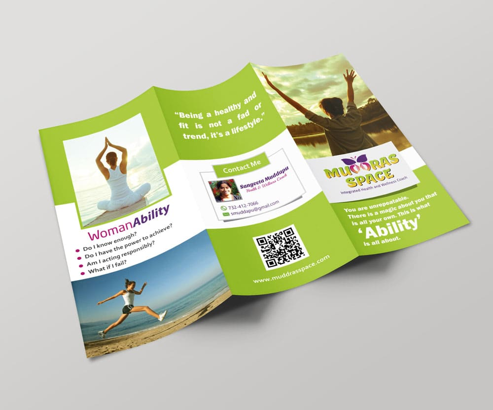 Parent Ability Brochure provided by Outflow designs agency