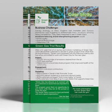يساعد تصميم فلاير شركة جرين جاز فى التعرف على جمع المعلومات والخدمات المقدمة من الشركة لتسهيل التعرف عليها والوصول إليها.