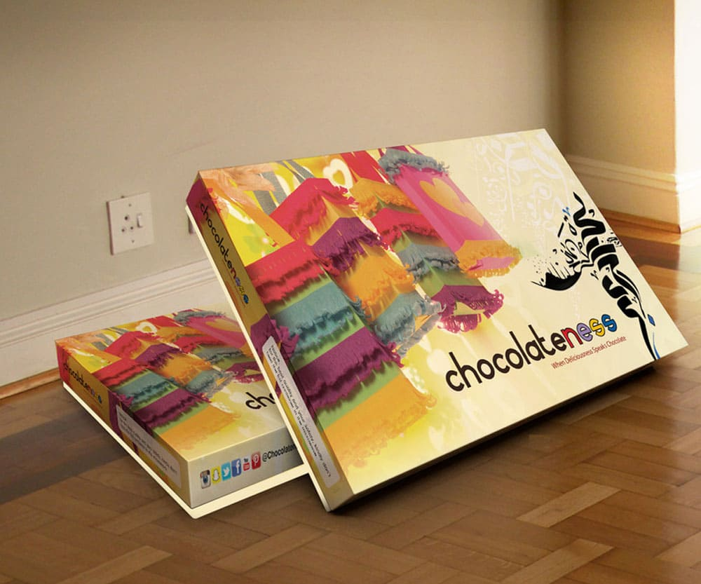 Chocolatness Packaging provided by Outflow designs agency