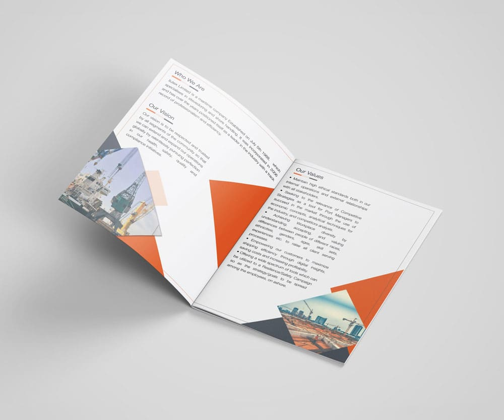 The color quality in digital printing helps the company profile spread